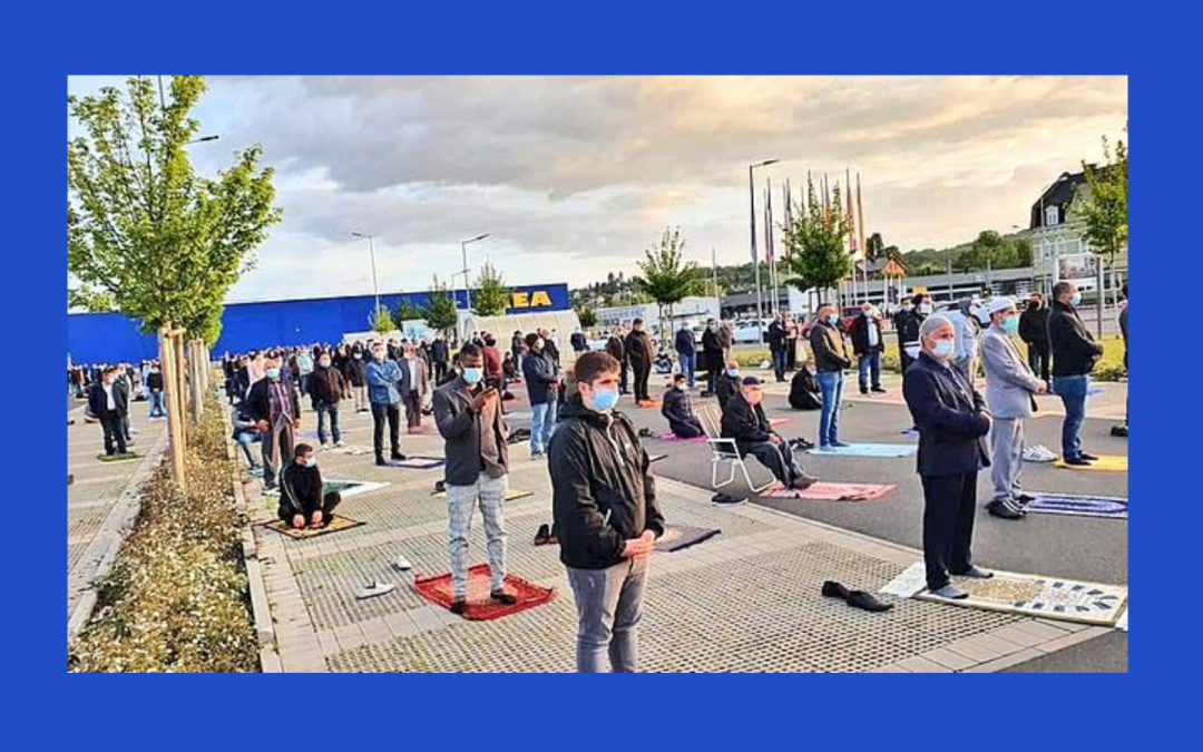 German Ikea Allows Car Park to be Used for Mass Eid Prayer