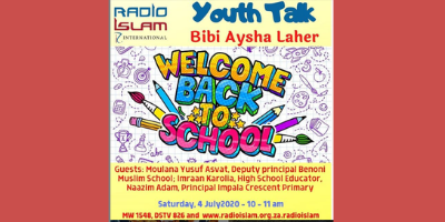 Youth talk with Bibi Aysha Laher – Back to School